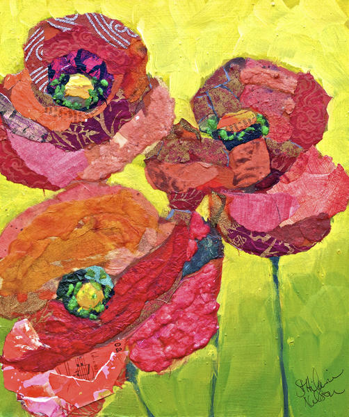Red Poppies by Elizabeth St. Hilaire