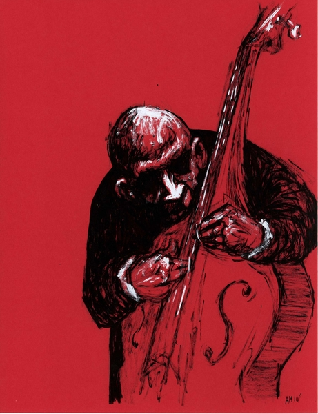 red bass by Aaron Morgan