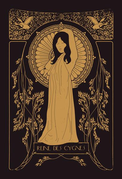 Reine des Cygnes (golden) by Florent Bodart - Speakerine