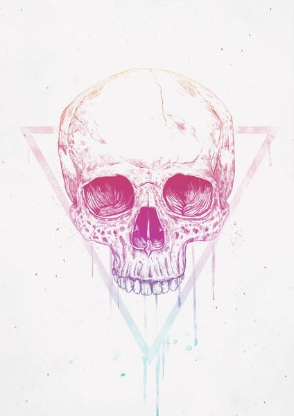 Skull in triangle by Balazs Solti