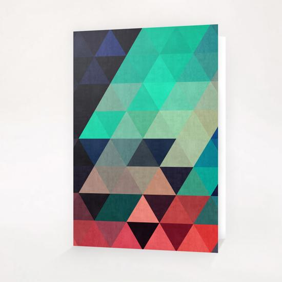 Pattern cosmic triangles I Greeting Card & Postcard by Vitor Costa