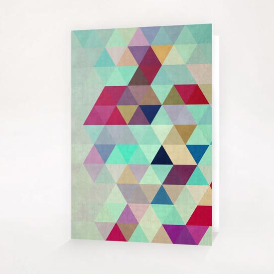 Pattern cosmic triangles II Greeting Card & Postcard by Vitor Costa
