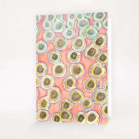 Simple Pastel Circle Pattern with Gold   Greeting Card & Postcard by Heidi Capitaine