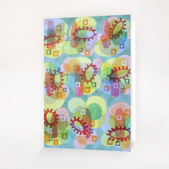 Lovely Pattern with Red Rings  Greeting Card & Postcard by Heidi Capitaine