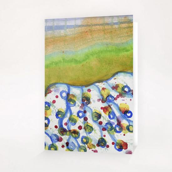 Curved Hill with Blue Rings Greeting Card & Postcard by Heidi Capitaine