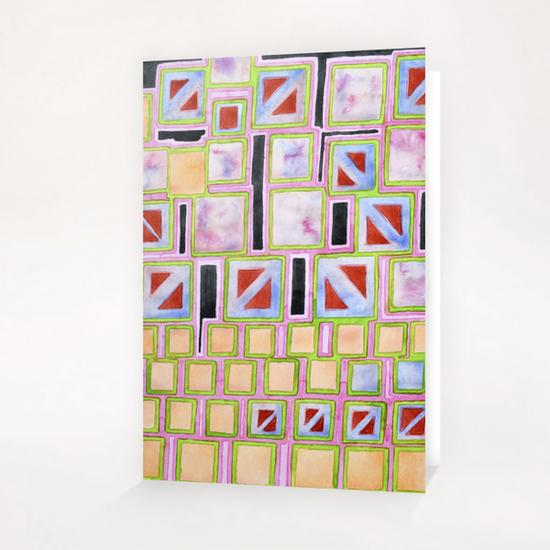 Composition out of Three Kind of Squares Greeting Card & Postcard by Heidi Capitaine