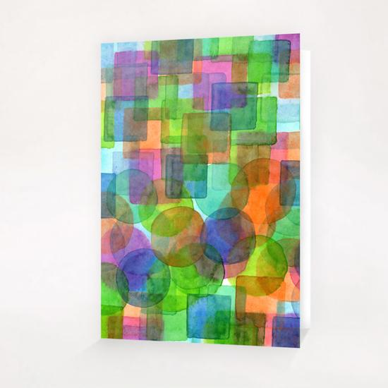 Befriended Squares and Bubbles  Greeting Card & Postcard by Heidi Capitaine