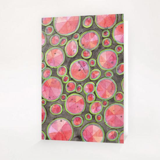 Big Red Circles Pattern  Greeting Card & Postcard by Heidi Capitaine