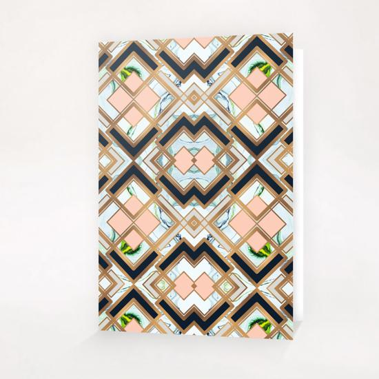 Art deco geometric pattern Greeting Card & Postcard by mmartabc