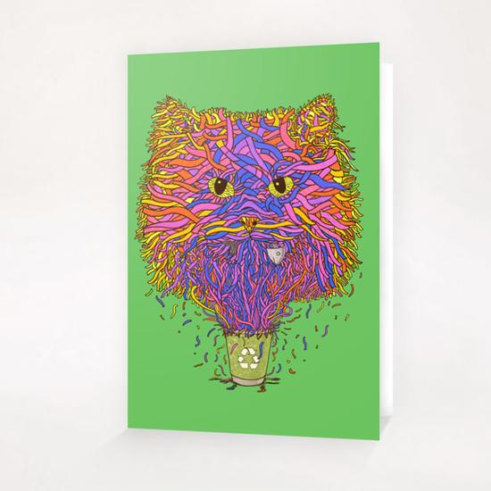 Recycle cat Greeting Card & Postcard by Tummeow