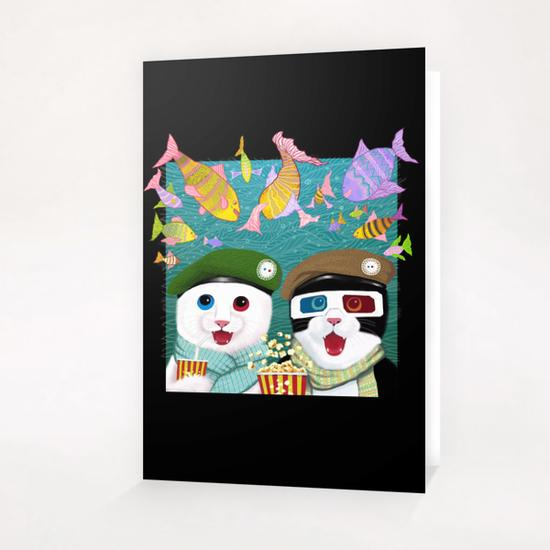 3D cats Greeting Card & Postcard by Tummeow