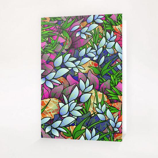 Floral Abstract Artwork G464 Greeting Card & Postcard by MedusArt