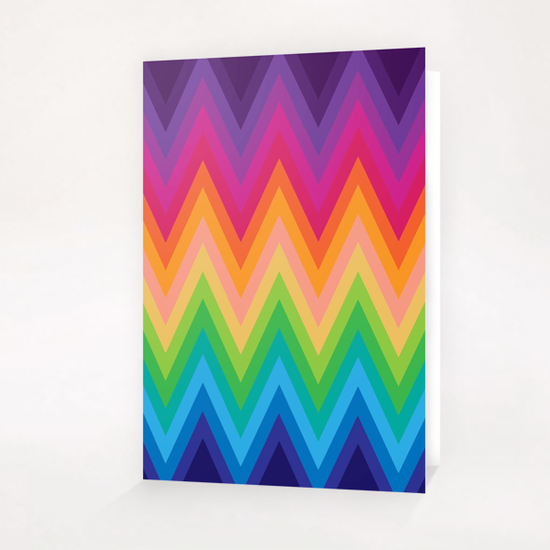 Zig Zag G8 Greeting Card & Postcard by MedusArt