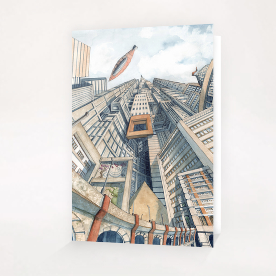 Downtown Greeting Card & Postcard by Davide Magliacano