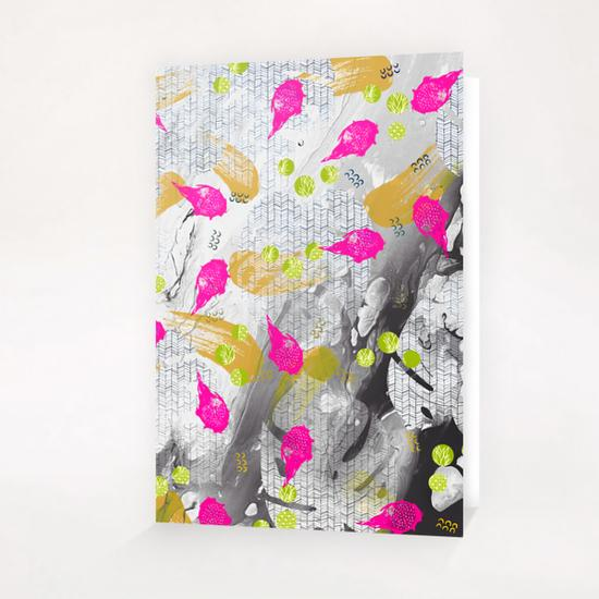 Tropical marble abstract Greeting Card & Postcard by mmartabc