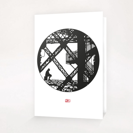 Eiffel tower #4 Greeting Card & Postcard by Denis Chobelet
