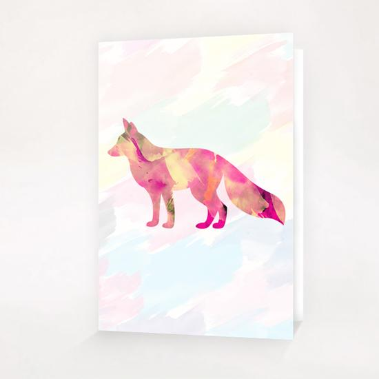 Abstract Fox Greeting Card & Postcard by Amir Faysal