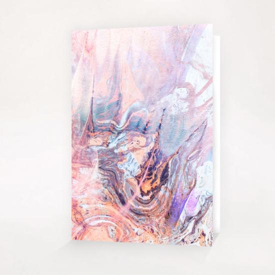 Multicolored saturated marble Greeting Card & Postcard by mmartabc