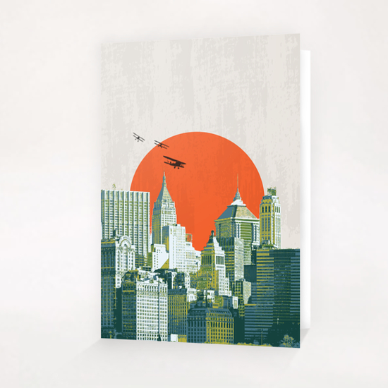Red sun on NY Greeting Card & Postcard by tzigone