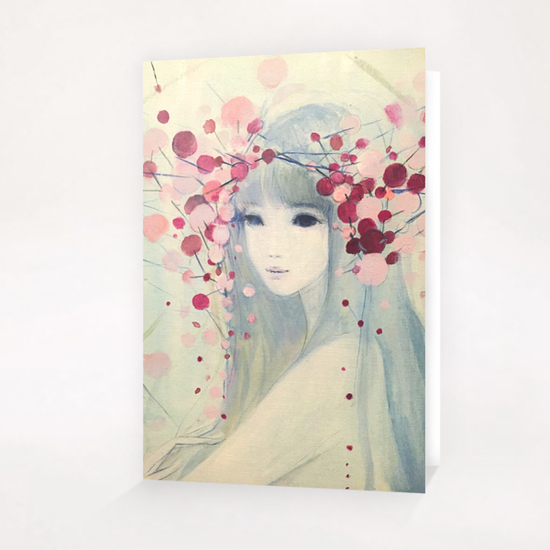 heavenly bamboo  / ナンテン  Greeting Card & Postcard by Ai Natori