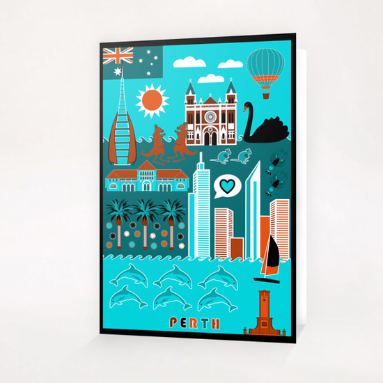Perth Lifestyle Greeting Card & Postcard by vannina