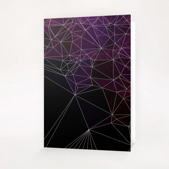 Geometric purple and black Greeting Card & Postcard by VanessaGF