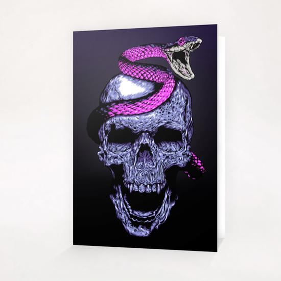 Skull and Snake Greeting Card & Postcard by Jordygraph