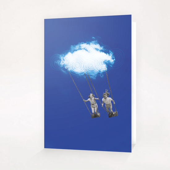 V&C in the sky Greeting Card & Postcard by tzigone