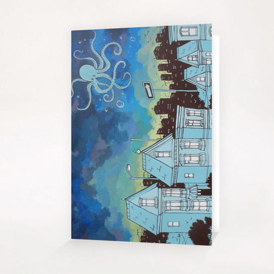 Beneath the Ocean Sky Greeting Card & Postcard by Ursula X Young