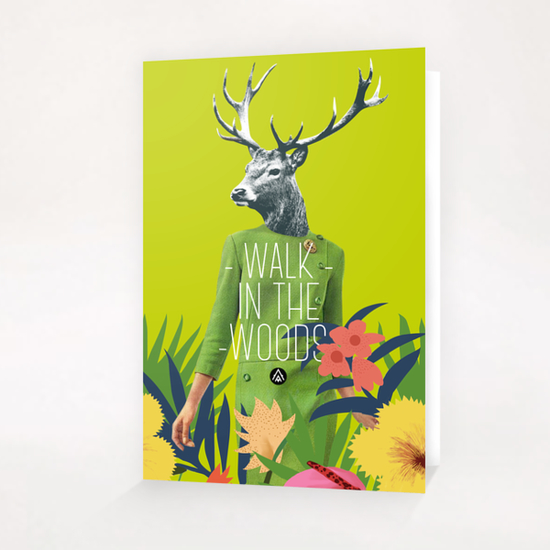 Walk in the woods Greeting Card & Postcard by Alfonse