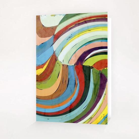 Color Wave Greeting Card & Postcard by Vic Storia