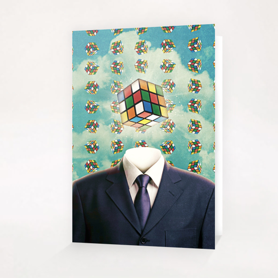 Cubism Greeting Card & Postcard by Seamless