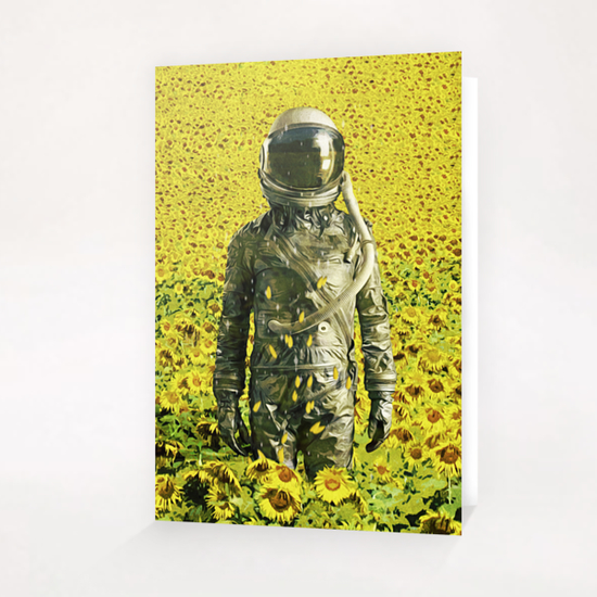 Stranded in the sunflower field Greeting Card & Postcard by Seamless