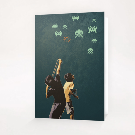 Invaders! Greeting Card & Postcard by tzigone