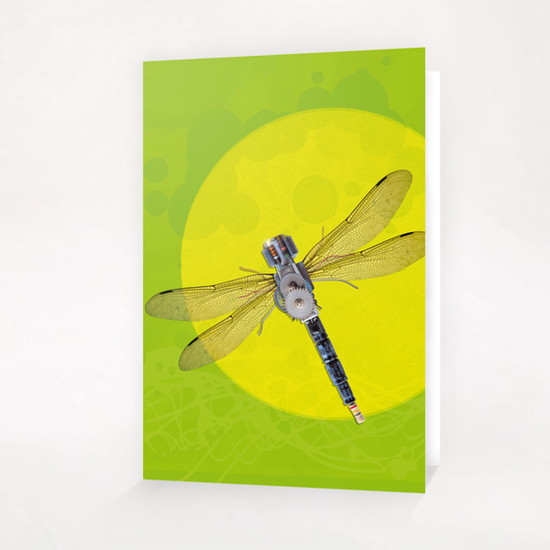 Mecanical Dragonfly Greeting Card & Postcard by tzigone