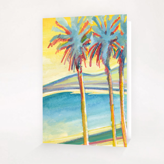 Palm Tree on the French Riviera Greeting Card & Postcard by Georgio Fabrello