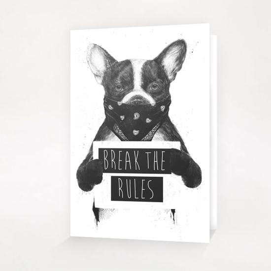 Rebel dog Greeting Card & Postcard by Balazs Solti