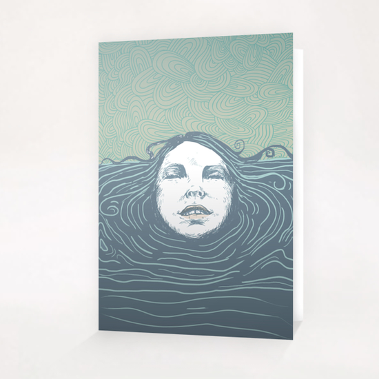 Sea-face Greeting Card & Postcard by tzigone