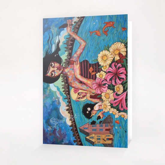 The Rising Tide of Kumari Kandem Greeting Card & Postcard by Ursula X Young