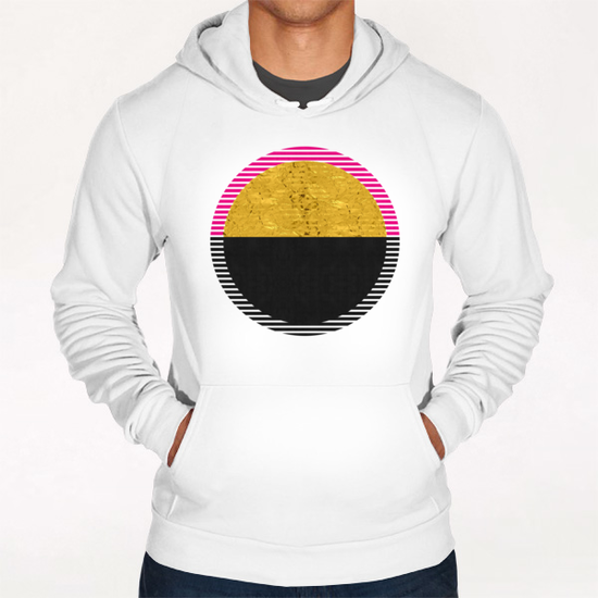 Geometric and golden art Hoodie by Vitor Costa