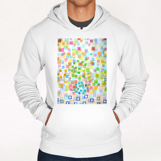 Raining Squares and Frames Hoodie by Heidi Capitaine