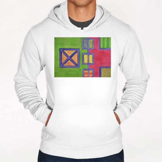 Red-Green Contrast  Hoodie by Heidi Capitaine