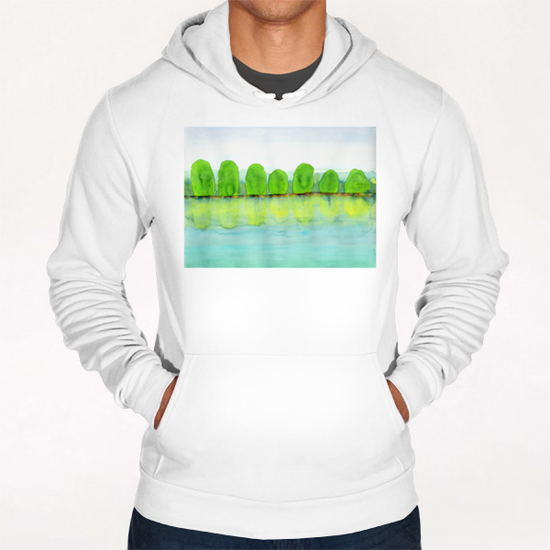 Trees Refecting On The Water  Hoodie by Heidi Capitaine