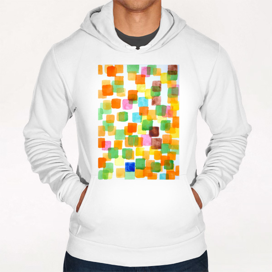 First Squares Pattern Hoodie by Heidi Capitaine