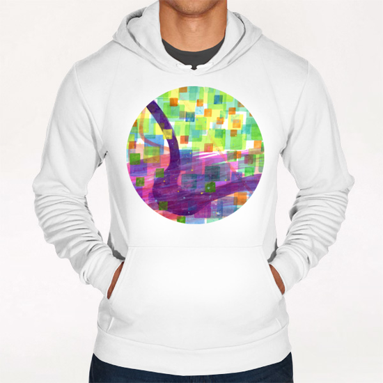 Bend and Squares Hoodie by Heidi Capitaine