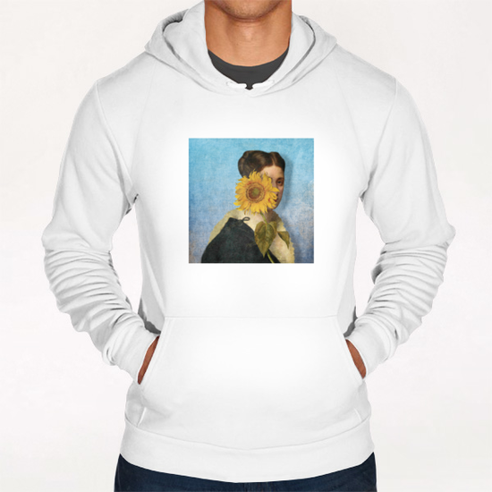 Girl with Sunflower 2 Hoodie by DVerissimo