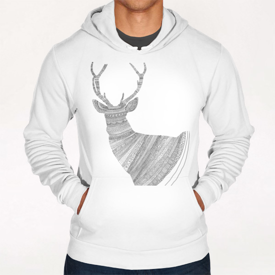 Stag / Deer  Hoodie by Florent Bodart - Speakerine