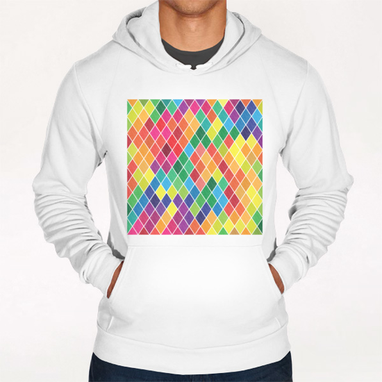Colorful Geometric  Hoodie by Amir Faysal
