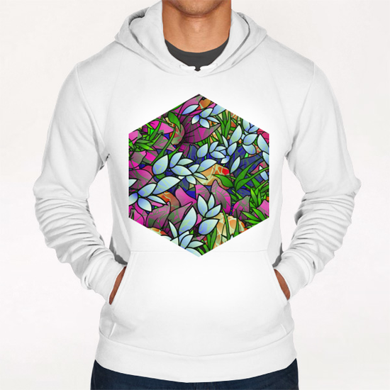 Floral Abstract Artwork G464 Hoodie by MedusArt