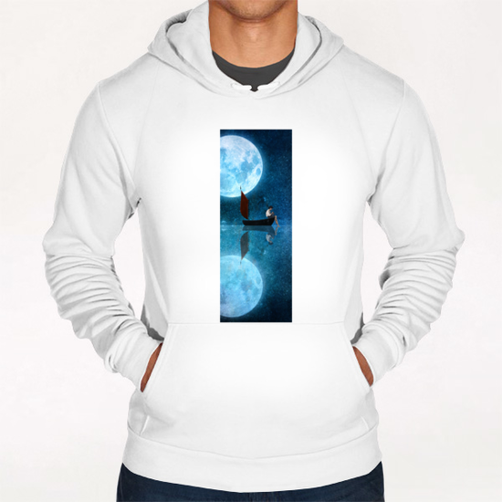 The Moon And Me Hoodie by DVerissimo
